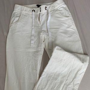 J Crew Wide-leg Linen Pants